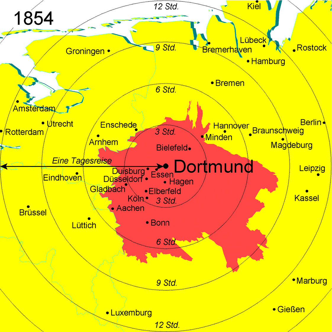 Spiekermann Wegener Urban And Regional Research - Germany map dortmund